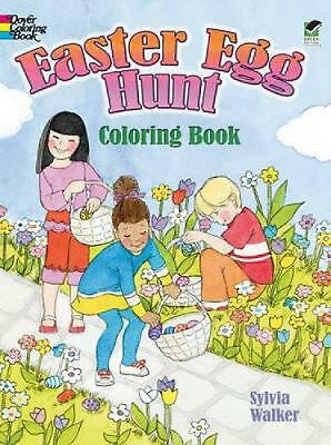 Easter Egg Hunt Coloring Book by Sylvia Walker (English) Paperback Book Free Shi