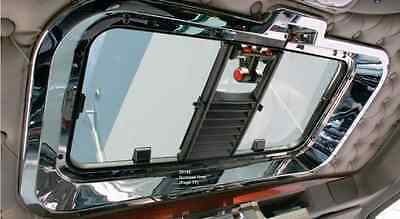 Kenworth W900 T800 T660 C500 2006 and Newer Chrome Interior Sunroof Outer Trim