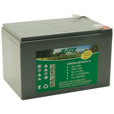 12V 12AH Gel Battery for Mobility Scooter, Electric Toy Car