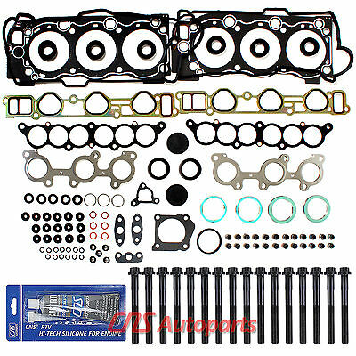 3.4L Toyota 4Runner Tacoma T100 Tundra Cylinder Head Gasket Set + Bolts 5Vzfe