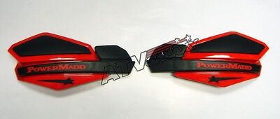 Powermadd Star Handguards Hand Guards Black/Red Snowmobile Snocross Ski-Doo