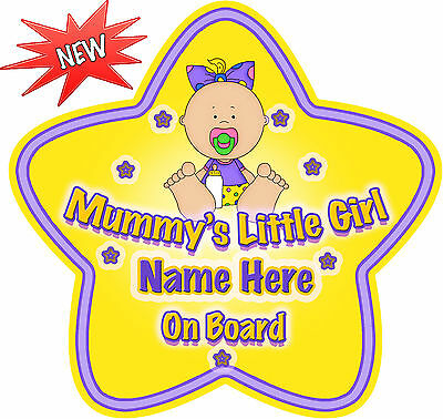 Mummy/'s Boys On Board,Child Baby On Board Car sign Bows~Non Personalised 1449