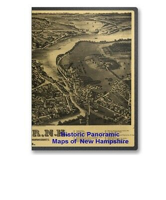 New Hampshire NH - 42 Vintage Panoramic City Maps on CD - B173