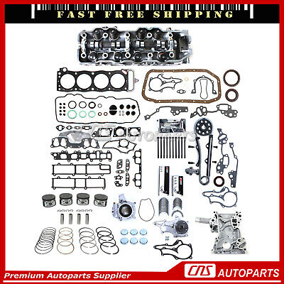 85-95 2.4L TOYOTA PICKUP COMPLETE CYLINDER HEAD+HEAD GASKET SET w/ BOLTS 22RE