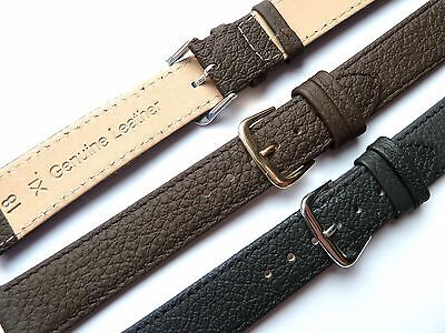 Black Brown Extra Long XL High Quality Leather Watch Band Strap 6-22mm