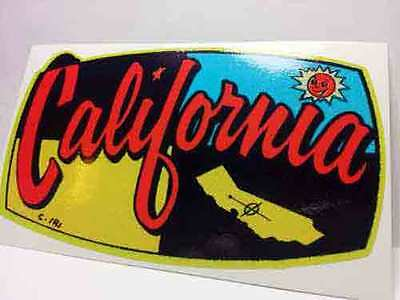 California Vintage Style Travel Decal / Vinyl Sticker, Luggage Label
