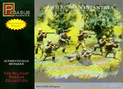 Pegasus 1/72 7498 WWII Russian Infantry Soviet Red Army
