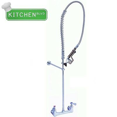 "Pre-rinse NO LEAD Faucet - 8"" Wall Mount Heavy Duty"