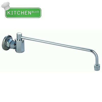 "Wok Range Automatic NO LEAD Faucet 3/8"" NPT male inlet w/ 14"" Spout"