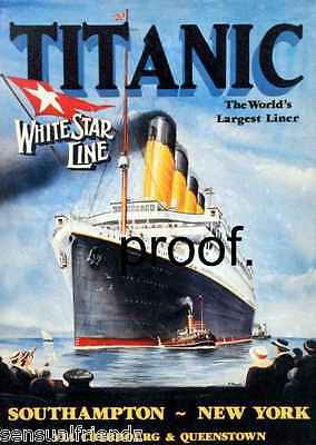 Titanic  White Star line Ship Ocean Liner Memorabilia advertising ad poster 1912