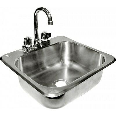 "Drop-In Hand Sink 16""x15"" Stainless Steel ETL/NSF *NO LEAD FAUCET*"