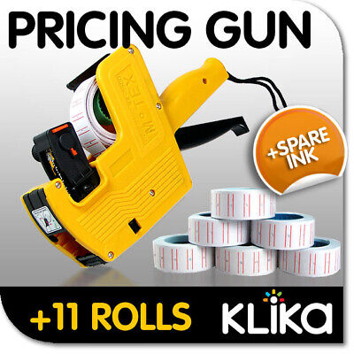 Local- Pricing Price Tag Tagging Gun Labeler + 11 Rolls + Spare Ink