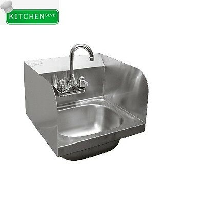 """Wall Mount 16""""x15"""" Hand Sink With Welded Splash Guards *NO LEAD*"""