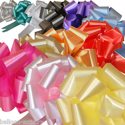 10 x 50mm COLOUR Ribbon Wedding Party Car Pull Bow