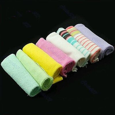 8 Pcs Soft Newborn Baby Children Bath Towels Washcloth For Bathing Feeding
