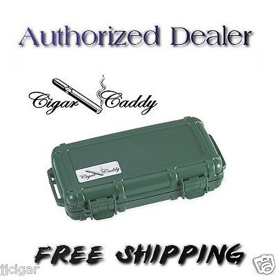 Cigar Caddy 5 ct Country Club Green Travel Humidor + Free Shipping