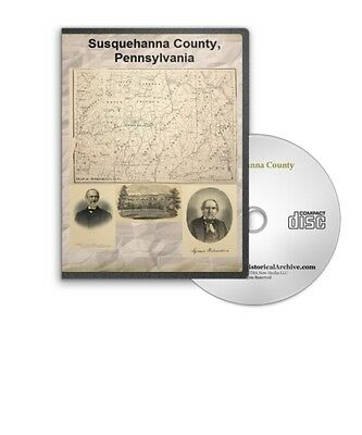 Susquehanna County Pennsylvania PA History Culture Genealogy 4 Books - D413