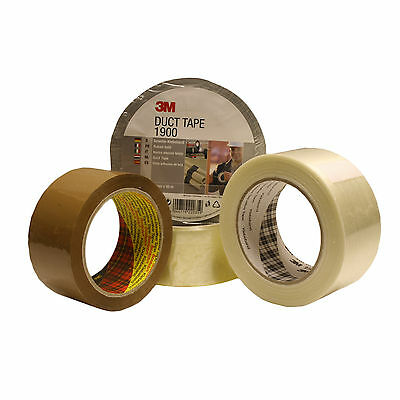 All Types 3M Scotch Tape –Brown–Clear-Reinforced-Crossweave-Duct-Gaffer-Parcel