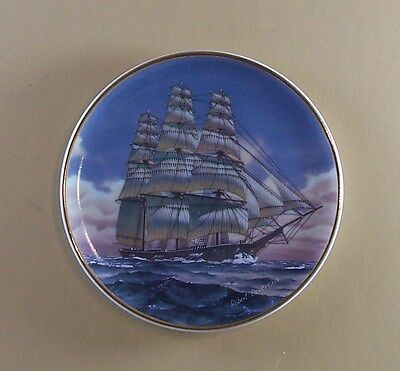 RAINBOW Plate The 25 Great American Sailing Ships Porcelain Miniatures Collectio