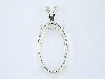Oval 4 prong wire mount pendant setting sterling silver 276 oval 4 prong wire mount pendant setting sterling silver aloadofball Gallery
