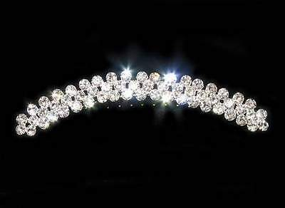 Bridal Clear Rhinestone Tiara Hair Comb Wedding Prom Party Hair Jewelry H303