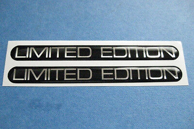2 Limited Edition Domed Stickers
