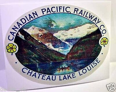 Canadian Pacific Railway Lake Louise Vintage Style Travel Decal / Vinyl Sticker