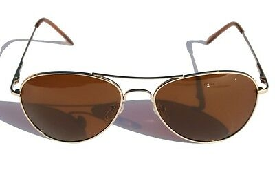 Classic Gold aviator with Brown Polarized Lens SUNGLASSES Cops Pilot Sailing