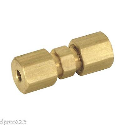 "5/16""od Compression Union (Lead Free)Coupling Brass Compression Fitting Low S/h"