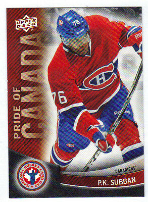 11-12 Upper Deck UD P.K. Subban Pride of Canada #7 NHCD National Hockey Card Day