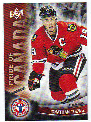 11-12 Upper Deck UD Jonathan Toews Pride of Canada #10 NHCD National Hockey Card