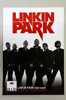 LINKIN PARK - Minutes to Midnight B KOREA OFFICIAL POSTER *HARD TUBE CASE*UNFOLD