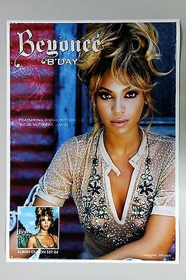 BEYONCE - B'Day KOREA OFFICIAL POSTER *HARD TUBE CASE* 2-Sided Glossy Paper