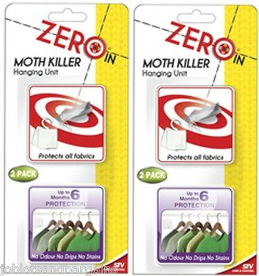 2 x 2 Pack STV Zero In Moth Killer Hanging Unit - Protects All Fabrics ZER432
