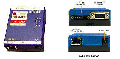 RS232 to ETHERNET SERVER COM RS232 RS485 to TCP/IP DRUCKERSERVER Cyclades TS100