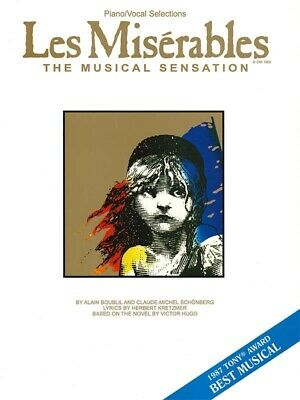 LES MISERABLES Piano & Vocal Selections Sheet Music Song Book 13 Songs