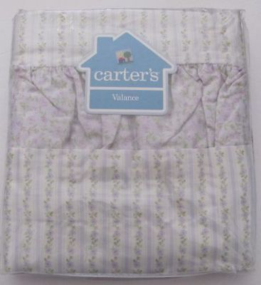 NEW NIP CARTERS CUTE CALICO PURPLE GREEN FLORAL WINDOW VALANCE  Free Shipping