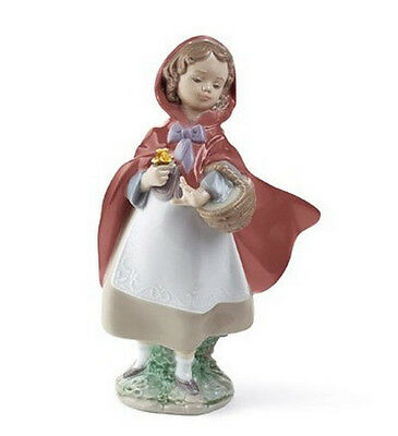 """Lladro Made In Spain  """"little Red Riding Hood""""  8500 Mint & Reduced"""