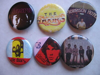 DOORS  6  DIFF  PROMO 1980'S  PINS  A NUMBER OF  ROCK  PINS LISTED AT THIS SITE