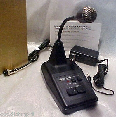 Workman DM502b AM FM SSB CB Ham 4 Pin Radio Base Mic 110 vt Custom Redman ECHO !