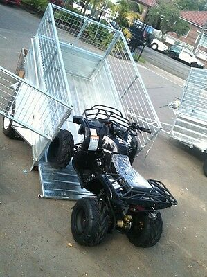 Box trailer 7x4 Winch tipper Hot dipped gal/ mesh cage