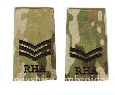 Genuine Multicam / MTP RHA Rank Slide All Ranks ( Royal Horse Artillery