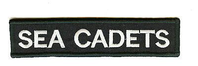 New Official Sea Cadets hook & loop backed Foul Weather Jacket Badge Title Tape