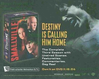 Smallville: 3rd Season DVD: Tom Welling: Great Original Photo Print Ad!