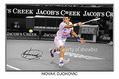 * Novak Djokovic * Large Signed Autograph Photo * Looks Great Framed