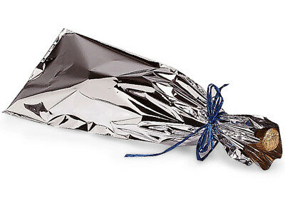 Lot 25 Mylar Metallic SILVER Wine Gift Bags Christmas Holiday Party Weddings