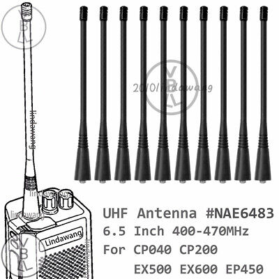 10x UHF Long Antenna for motorola  CP040 CP200  EX500 EX600 EP450 Portable radio