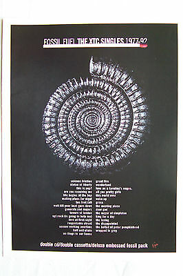 XTC - Fossil Fuel The Singles 1977-92 - 1996 Magazine Advertisment Poster