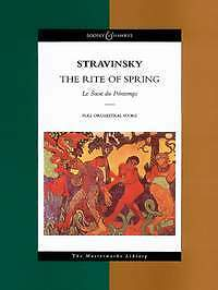 The Rite of Spring, study score, sheet music, Le Sacre du Printemps; orchestra.