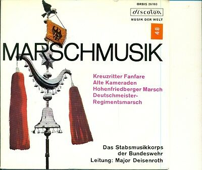 "7"" Single   Marschmusik- Major Deisenroth  Alte Kameraden -  Kreuzritter (A87)"